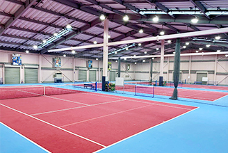 3 indoor courts, 10 meters high ceiling , air condition