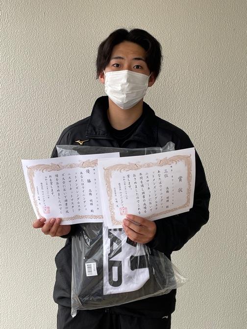 優勝の高橋明輝さん