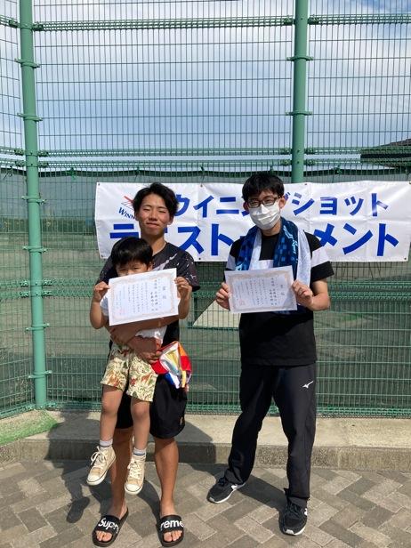 男子準優勝の齋藤・高橋ペア
