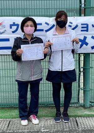 女子準優勝の菊地・山口ペア